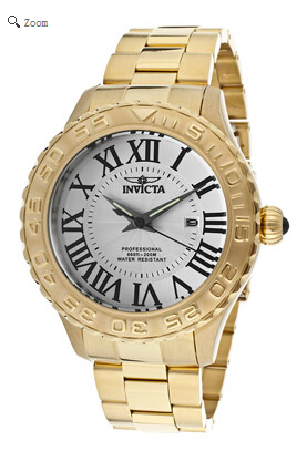 Invicta英弗他Pro Diver系列18K镀金男士腕表 World of Watches $74.99